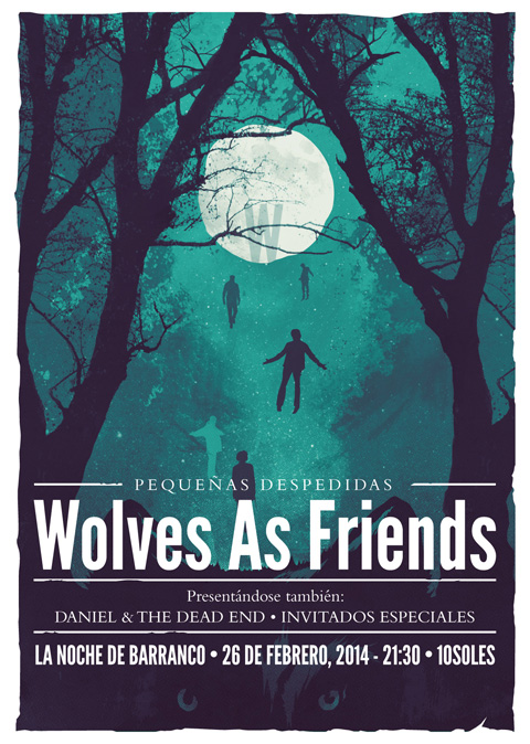Wolves as Friends Poster